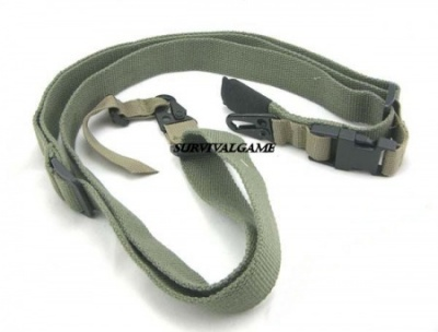 3-POINT Tactical Rifle Sling in Green color