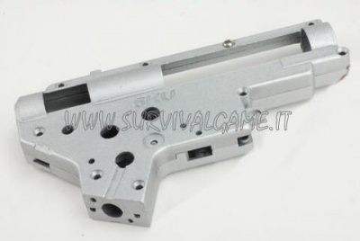 '5KU' 9mm bearing reinforced gearbox housing in silver for ver.2