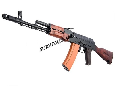 APS Full Metal AK74 Real Wood Fix stock EBB