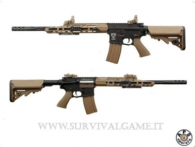 'APS' M4 GUARDIAN TACTICAL STYLE RIFLE EBB AEG R110 DARK HEART