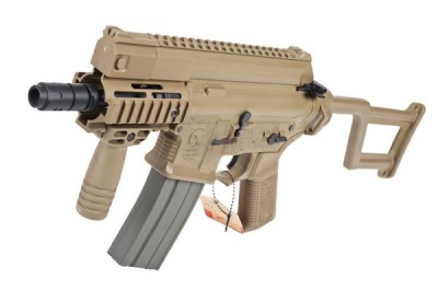 ARES AMOEBA M4 Tactical Pistol AEG  with rail handguard (AM001, Tan)