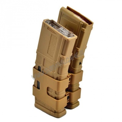DOUBLE ELECTRIC MAGAZINE FOR MASADA/M4 850 ROUNDS TAN (sound control)