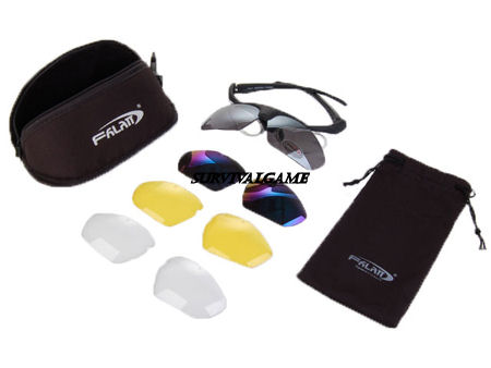 Falan Protective Shooting Glasses with 4 Sets of Lens