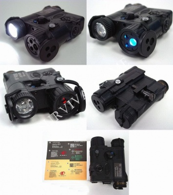 'Element' AN/PEQ-16A Integrated Pointer/Illuminator Module (IPIM) Laser Device Nero