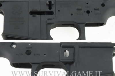 Gusci in Metallo M4/M16 Noveske Type Black