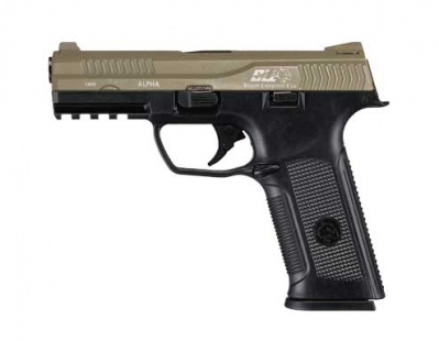 BLE-001-SD4 Alpha Gas Blowback Pistol Two-Tone TNBK