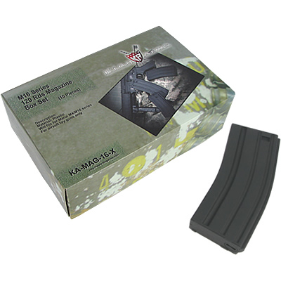 King Arms M16 120 Rounds Magazines Box Set (10pcs)-BK