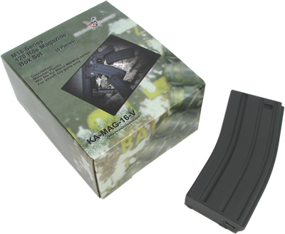 King Arms M16 120 rounds Magazines (5pcs) -BK
