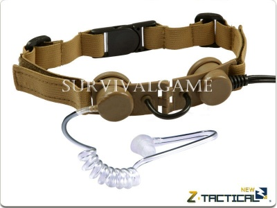 Laringofono Tactical Throat Mic - Z-Tactical (Tan)