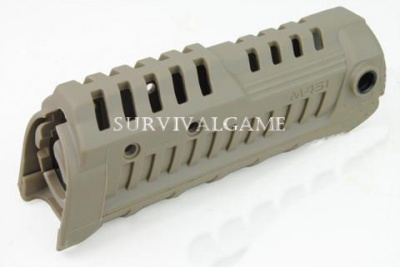 M4S1 M16/AR15 carbine polymer handguard (Dark Earth)