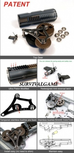 MODIFY MGS 6MM VER2-3 TOP GEAR