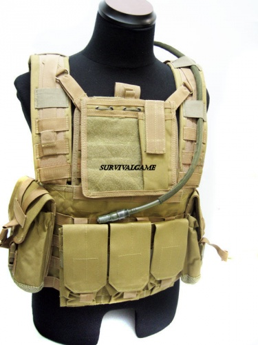 Rhodesian Reconissance Vest with MLCS Hydr Pack(Coyote Brown)