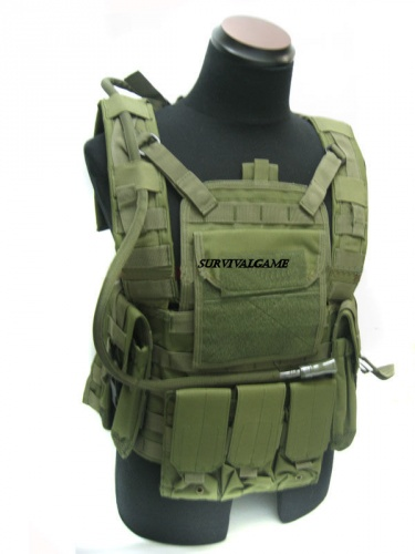 Rhodesian Reconissance Vest with MLCS Hydr Pack(OD)