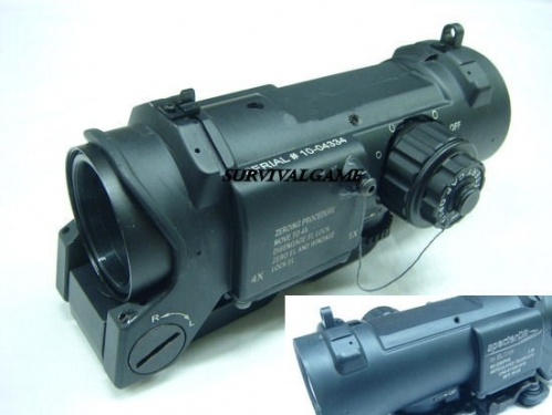 SpecterDR Style 4X Magnifier Illuminated Scope