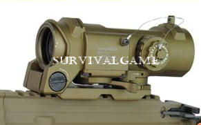 Specter DR Style 4X Magnifier  Illuminated Scope  (Tan)