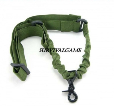 Tactical 1-Point Rifle Sling (Green)