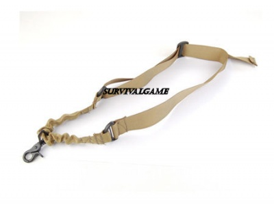 Tactical 1-Point Rifle Sling Tan